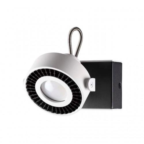 3490/1W ODL18 147 белый с черным Настенный светильник IP20 GU10 1*50W 220V SATELIUM