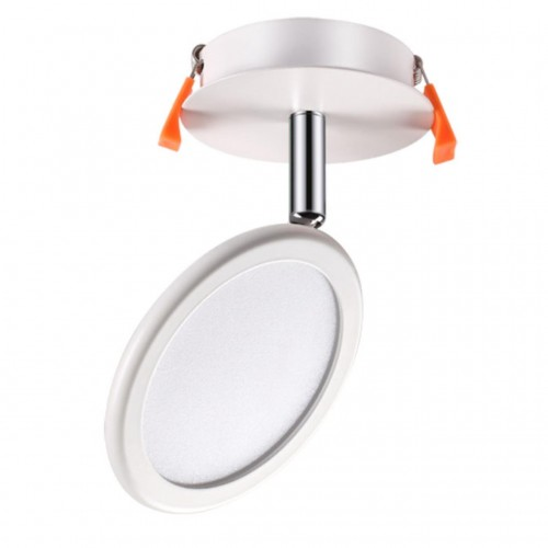 357454 NT18 072 матовый белый Встраиваемый светильник IP20 LED 3000K 8W 100-240V SOLO