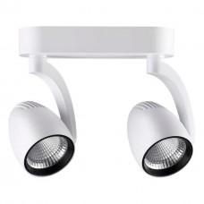357870 NT19 057 белый/черный Накладной светильник IP20 LED 3000К 2*24W 220-240V ZEUS