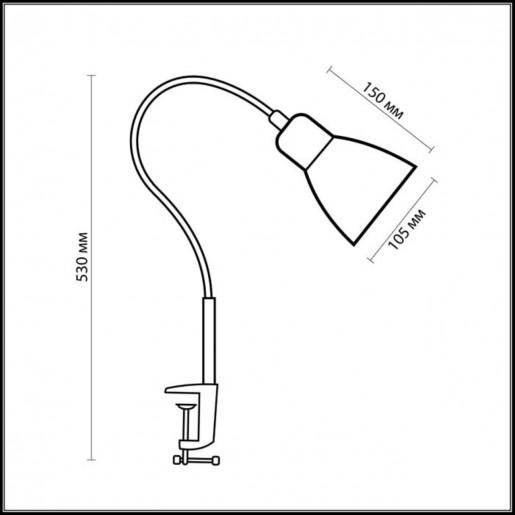 1997/1T ODL11 676 серый металлик Н/лампа E27 60W 220V COSTA