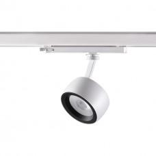 358172 NT19 018 белый/черный Трехфазный трековый светодиодный светильник IP20 LED 4000K 20W 100-240V