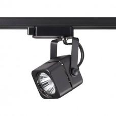 370429 NT19 100 черный Трековый светильник IP20 GU10 50W 220V PIPE