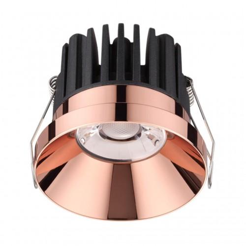 357910 NT19 088 медь Светильник встраиваемый IP44 LED 3000К 10W 100-265V METIS