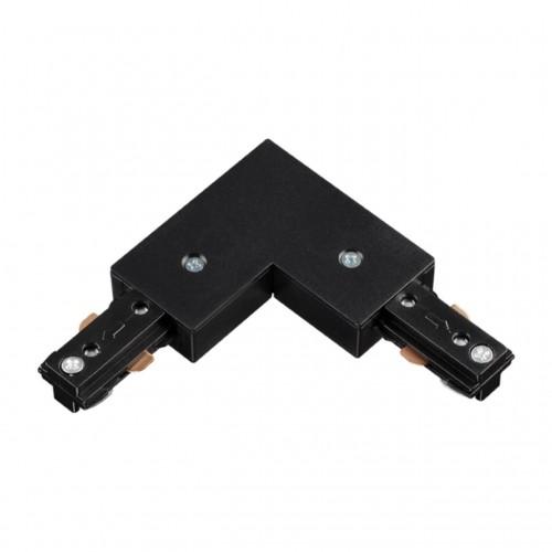 135009 NT18 015 черный Соединитель с токопроводом для шинопровода L-образный для однофазного шинопро