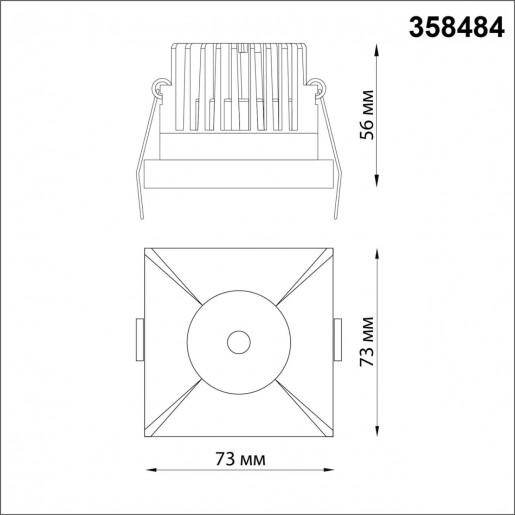 358484 SPOT NT21 000 золото Светильник встраиваемый IP44 LED 3000K 10W 100-265V METIS