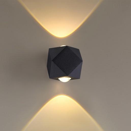 4218/4WL HIGHTECH ODL21 черн/металл Настенный светильник IP54 LED 4W 350Лм 3200K DIAMANTA