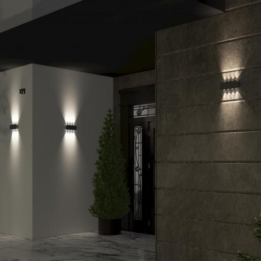 358561 STREET NT21 000 темно-серый Ландшафтный настенный светильник IP54 LED 4000K 8W 85-265V CALLE