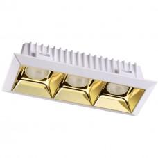 357849 NT18 054 белый/золото Встраиваемый светильник IP33 LED 3000К 21W 110-265V ANTEY