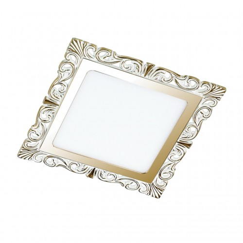 357278 NT16 141 белый/золото Встраиваемый светильник IP20 LED 3000K 9W 220-240V PEILI