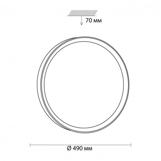 3019/EL SN 030 св-к WOODI пластик LED 72Вт 3000-6000K D490 IP43 пульт ДУ