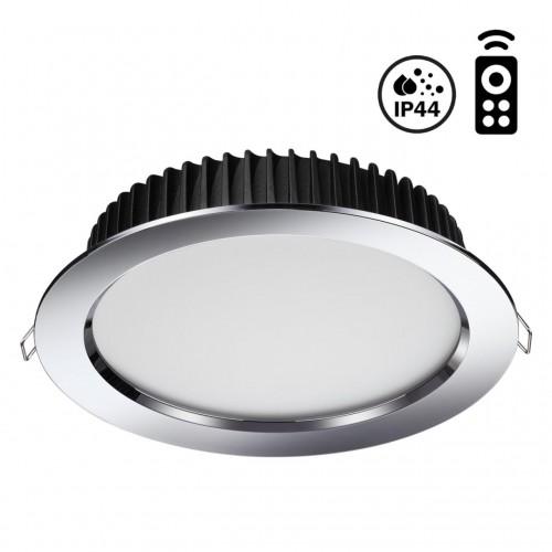 358311 NT19 000 хром Встраиваемый диммируемый св-к с пультом ДУ IP44 LED 3000-6500K 20W 85-265V DRUM