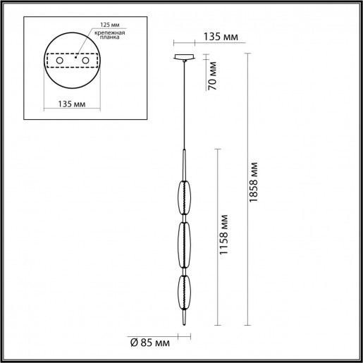 4792/28L PENDANT ODL21 009 бронзовый/белый Подвес LED 28W SPINDLE