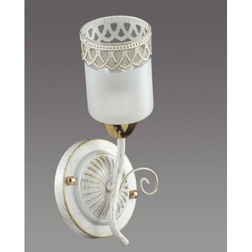 3237/1W LN16 233 белый/зол.патина/стекло/метал. декор Бра E14 60W 220V GAETTA