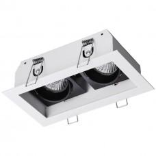 370713 SPOT NT20 000 белый/черный Встраиваемый светильник IP20 GU10 2*50W 220V GESSO