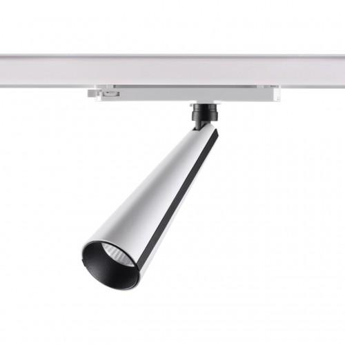358173 NT19 020 белый/черный Трехфазный трековый светодиодный светильник IP20 LED 4000K 20W 100-240V