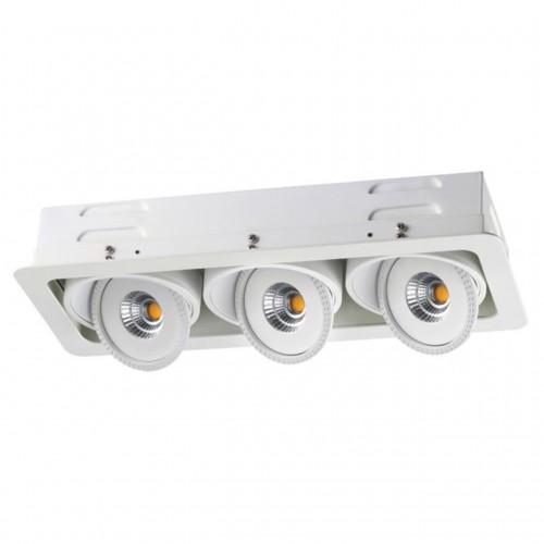 357579 NT18 081 белый Встраиваемый светильник IP20 LED 3000K 3*7W 85-265V GESSO