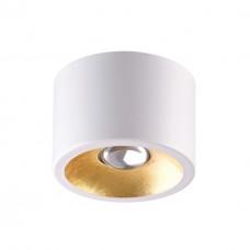 3877/1CL ODL19 221 белый с золотом Потолочной накладной светильник GU10 1*50W 220V GLASGOW
