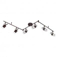370557 NT19 106 коричневый Накладной светильник IP20 GU10 6*50W 230V VETERUM