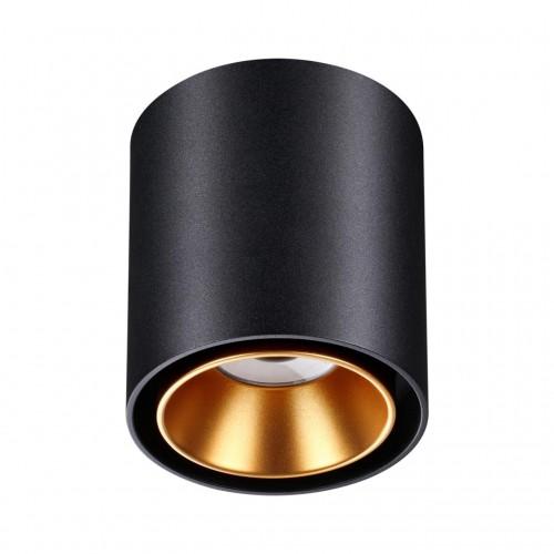 358485 OVER NT20 000 черный/золото Светильник накладной IP20 LED 10W 220V RECTE
