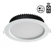 358302 NT19 000 белый Встраиваемый диммируемый светильник с пультом ДУ IP44 LED 3000-6500K 10W 85-26