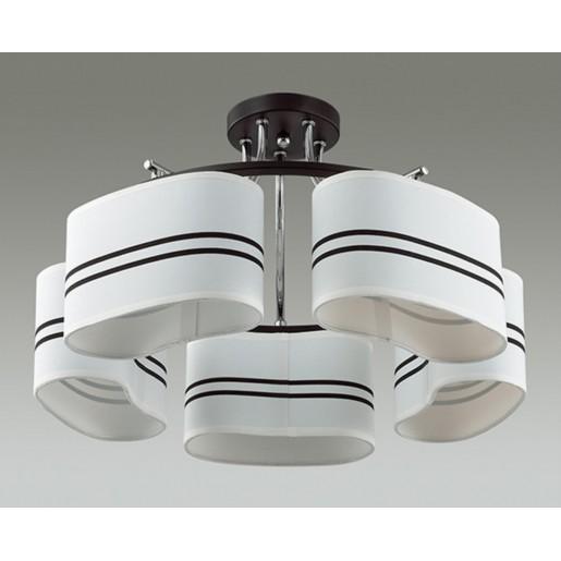 3056/5C LN16 191 хром/черный/ткань Люстра потолочная E14 5*40W 220V IVARA