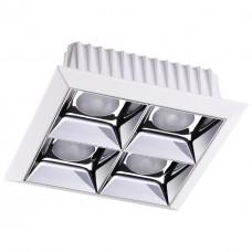 357850 NT18 054 белый/хром Встраиваемый светильник IP33 LED 3000К 28W 110-265V ANTEY
