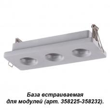 358222 NT19 036 серый База встраиваемая для модулей с 358225-358232 IP20 OKO