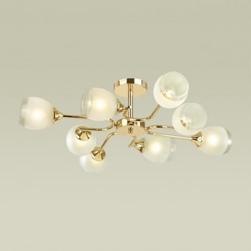 4546/8C COMFI LN21 048 золотой, белый Люстра потолочная E27 8*60W 220V JOLENE