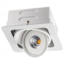 357580 NT18 081 белый Встраиваемый светильник IP20 LED 3000K 15W 85-265V GESSO