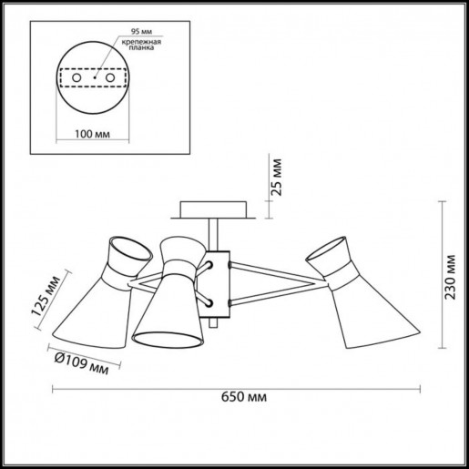 3498/3 LN18 120 хром Люстра потолочная E14 3*40W 220V LACONICA