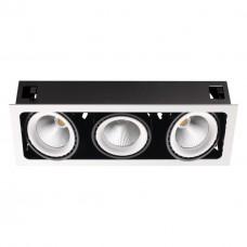 358039 NT19 082 белый/черный Встраиваемый карданный светильник IP20 LED 3000К 3*32 220V GESSO