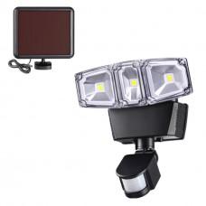 358019 NT19 180 черный Ландшафтный светильник на солнечной батарее IP54 LED 6000К 12W 3.7V SOLAR