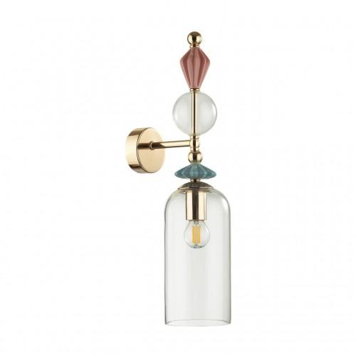 4855/1WA CLASSIC ODL_EX21 золото/раноцветн./керамика/стекло Бра E14 1*40W BIZET