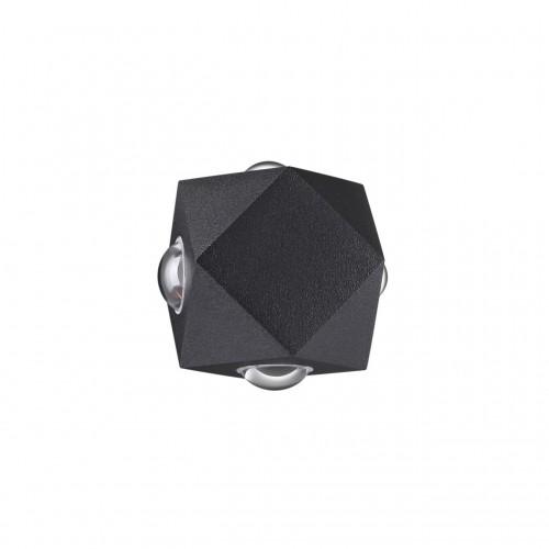 4218/8WL HIGHTECH ODL21 черн/металл Настенный светильник IP54 LED 8W 716Лм 3200K DIAMANTA